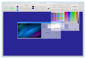 Changing the dialog colour